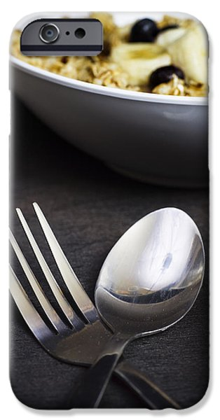 Oatmeal iPhone Cases -  Spoon and Fork iPhone Case by Donald  Erickson