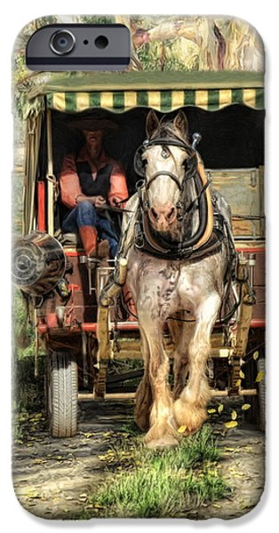 Horse And Cart Mixed Media iPhone Cases -  Take Me Home Country Road iPhone Case by Trudi Simmonds