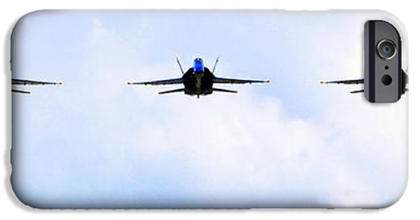 Angel Blues iPhone Cases -  the Blue Angels iPhone Case by Celestial Images