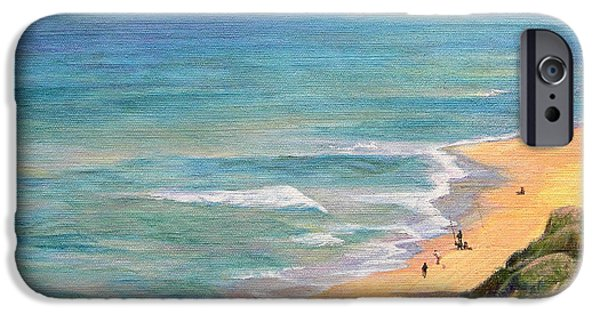 Remnants Paintings iPhone Cases -     The breath of the sea... iPhone Case by Maya Bukhina