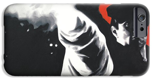 Ludzska iPhone Cases - - The Godfather - iPhone Case by Luis Ludzska