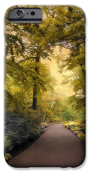 Walkway Digital iPhone Cases -  The Golden Walkway iPhone Case by Jessica Jenney