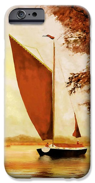 Sailing iPhone Cases -  The Wherry Albion iPhone Case by Valerie Anne Kelly
