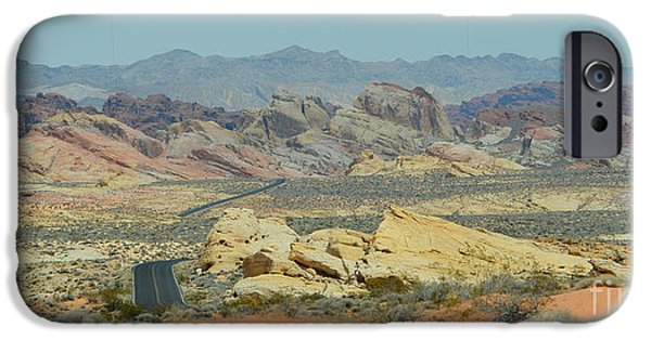 Red Rock Tapestries - Textiles iPhone Cases -  Valley of Colours iPhone Case by Edna Weber