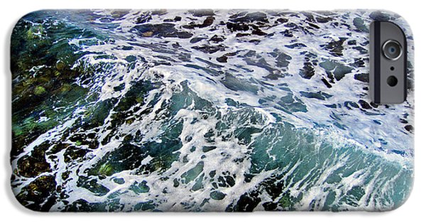 Nature Study iPhone Cases -  Wave Texture.  Sea.    iPhone Case by Andy Za