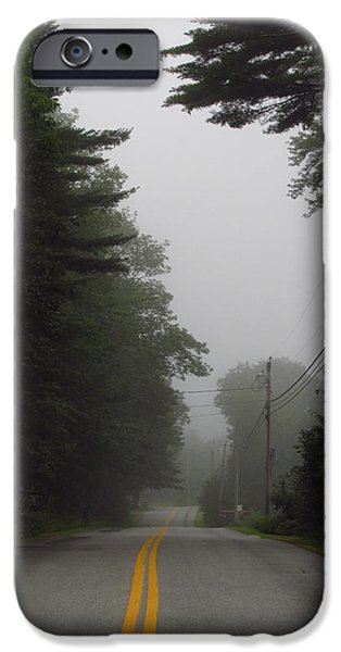 Asphalt iPhone Cases -  Yellow Double Line iPhone Case by Bill Tomsa