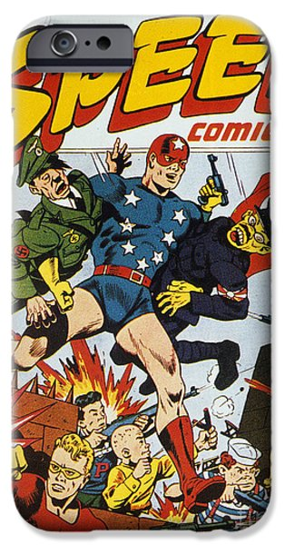 WORLD WAR II: COMIC BOOK iPhone Case by Granger