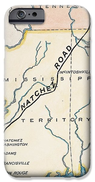 Nashville Paintings iPhone Cases - Natchez Trace, 1816 iPhone Case by Granger