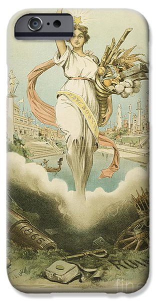 Political Allegory iPhone Cases - Atlanta Exposition, 1895 iPhone Case by Granger