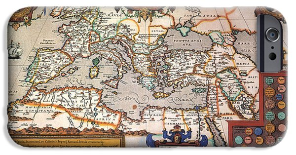Renaissance Paintings iPhone Cases - Map Of The Roman Empire iPhone Case by Granger