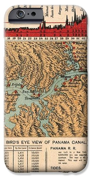 CARD: PANAMA CANAL, 1914 iPhone Case by Granger