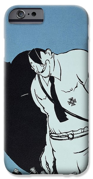 ADOLF HITLER CARTOON, 1935 iPhone Case by Granger