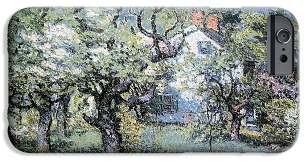 Fruit Tree Paintings iPhone Cases - Through The Orchard iPhone Case by John Enneking