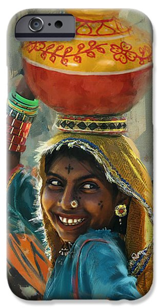 Exhibition iPhone Cases - 028 Sindh iPhone Case by Mahnoor Shah