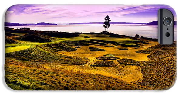 Us Open Photographs iPhone Cases - #15 at Chambers Bay Golf Course iPhone Case by David Patterson