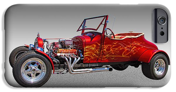 1927 Ford Roadster iPhone Cases - 1927 Ford Hot Rod iPhone Case by Nick Gray