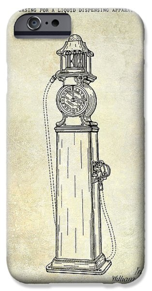 Griffin iPhone Cases - 1930 Gas Pump Patent  iPhone Case by Jon Neidert