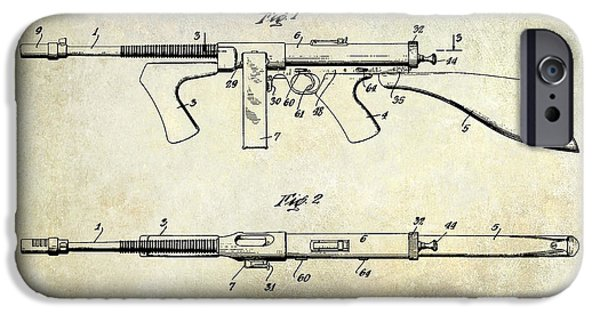 Ammunition iPhone Cases - 1936 Gun Patent  iPhone Case by Jon Neidert
