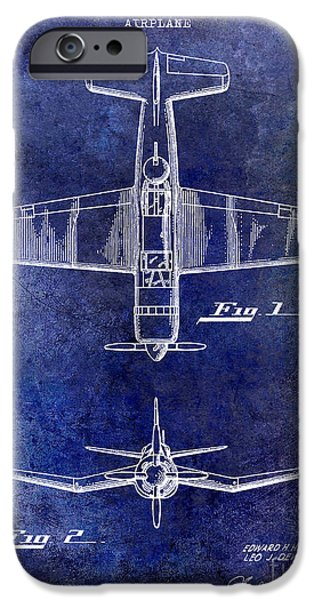 Recently Sold -  - Sea iPhone Cases - 1946 Airplane Patent iPhone Case by Jon Neidert