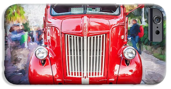 Delivery Truck iPhone Cases - 1947 Ford Coca Cola Delivery Truck Painted  iPhone Case by Rich Franco