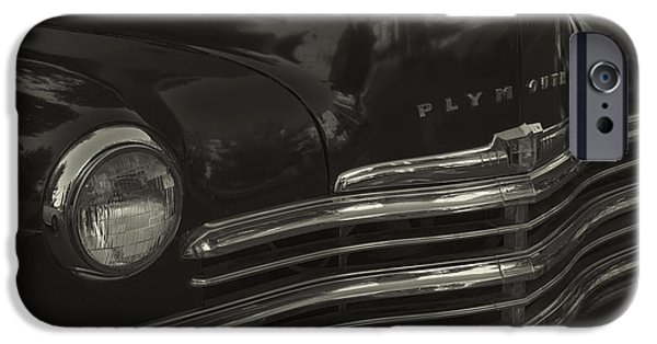 1949 Plymouth iPhone Cases - 1949 Plymouth Deluxe  iPhone Case by Cathy Anderson