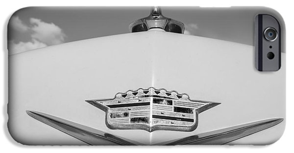 Old Cars iPhone Cases - 1956 Cadillac Hood iPhone Case by Dennis Hedberg