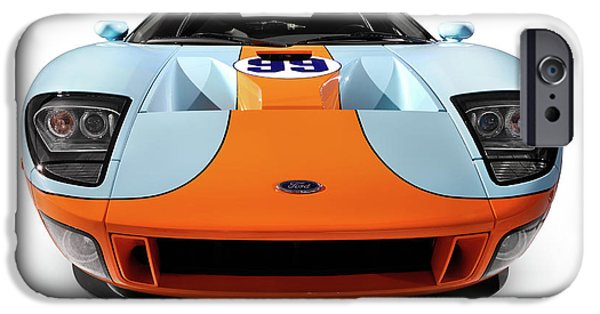Cut-outs iPhone Cases - 2006 Ford GT iPhone Case by Oleksiy Maksymenko