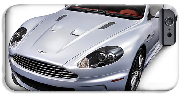 2009 iPhone Cases - 2009 Aston Martin DBS iPhone Case by Oleksiy Maksymenko