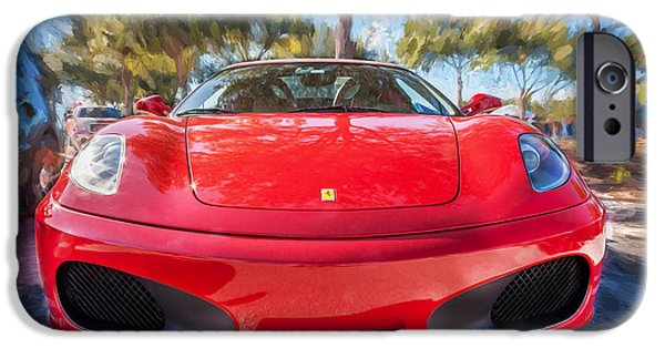 2009 iPhone Cases - 2009 Ferrari F430 Spider Convertible Painted  iPhone Case by Rich Franco