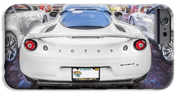Recently Sold -  - Power iPhone Cases - 2014 Lotus Evora Coupe Painted  iPhone Case by Rich Franco