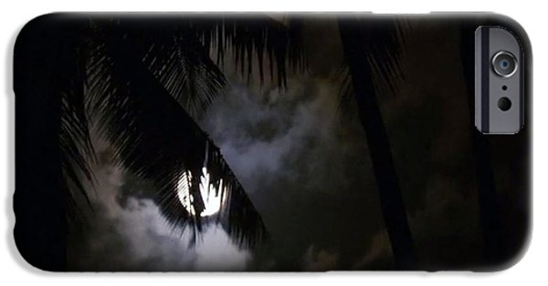 Moonscape iPhone Cases - 4 Strange Ways the Moon Might Affect Our Bodies read at news dot health dot com iPhone Case by Navin Joshi