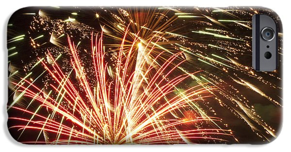 4th July Photographs iPhone Cases - 4th of July Fireworks iPhone Case by Joe Carini - Printscapes
