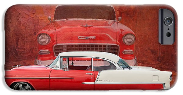 Old Cars iPhone Cases - 55 Chev beauty iPhone Case by Jim  Hatch