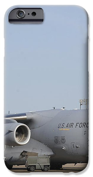 A C-17 Globemaster Iii Parked iPhone Case by Stocktrek Images