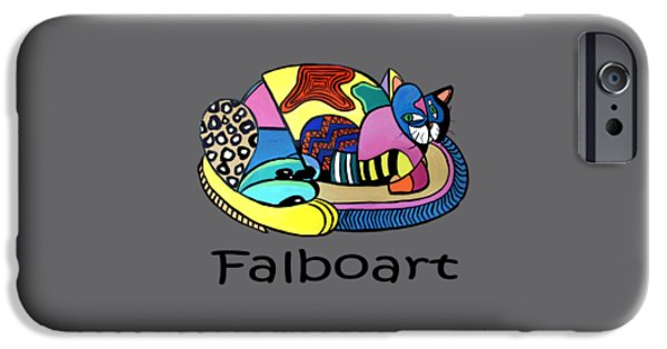 Shirt Digital iPhone Cases - A Cat Named Picasso iPhone Case by Anthony Falbo