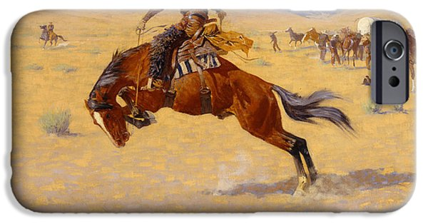 Smooth iPhone Cases - A Cold Morning on the Range iPhone Case by Frederic Remington