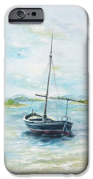 Recently Sold -  - David iPhone Cases - A Day for Sailing iPhone Case by David Jansen