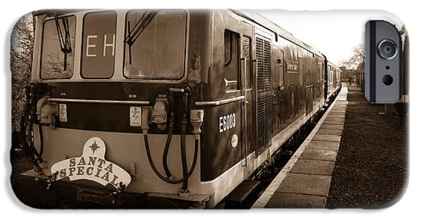 Swindon iPhone Cases - A diesel engine at Swindon and Cricklade railway iPhone Case by Steven Sexton