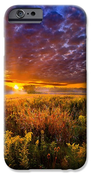 Morning iPhone Cases - A Drifting Kiss iPhone Case by Phil Koch
