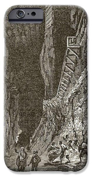 Nineteenth iPhone Cases - A European Salt Mine In The Nineteenth iPhone Case by Ken Welsh