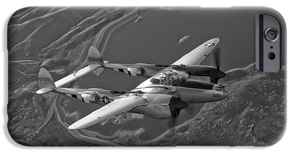 Best Sellers -  - World War One iPhone Cases - A Lockheed P-38 Lightning Fighter iPhone Case by Scott Germain