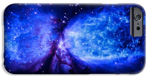 Constellations iPhone Cases - A Star is Born Deep Blue iPhone Case by Johari Smith