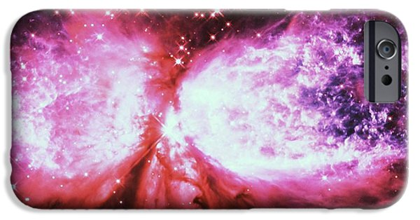Constellations iPhone Cases - A Star is Born Mauve iPhone Case by Johari Smith