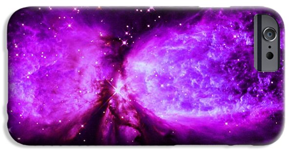 Constellations iPhone Cases - A Star is Born Purple iPhone Case by Johari Smith