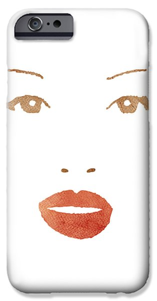Fashion Abstract Art iPhone Cases - A woman in fashion iPhone Case by Frank Tschakert