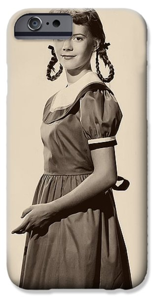 1950s Portraits iPhone Cases - A Young Natalie Wood 1951 iPhone Case by Rko