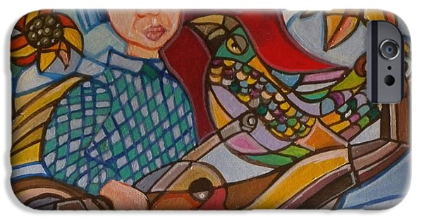 Boat Tapestries - Textiles iPhone Cases - A13 iPhone Case by Sandra viviana  Rossi