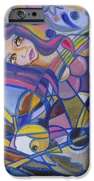 Boat Tapestries - Textiles iPhone Cases - A4 iPhone Case by Sandra viviana  Rossi