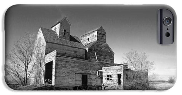 Historic Site iPhone Cases - Abandoned Grain Elevator iPhone Case by Donald  Erickson