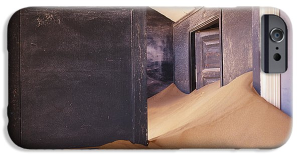 Disorder iPhone Cases - Abandoned House Filled with Drifting Sand iPhone Case by Jeremy Woodhouse